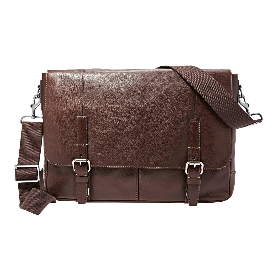 Porte documents ordinateur 15 pouces Graham Fossil en cuir marron     Porte documents Porte ordinateur 15 pouces Graham Fossil en cuir marron