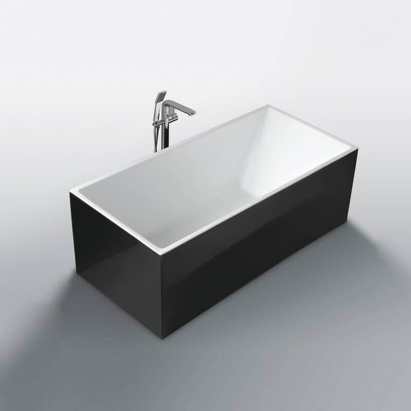 Baignoire Lot Rectangulaire 170x80 Cm Acrylique Blanc
