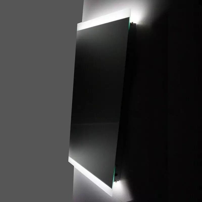 Miroir Salle De Bain Led Antibuee 50 X 110 Eclairage Sensitif Lignum