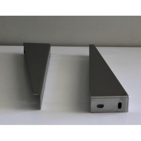 petite paire equerre de fixation lavabo 25 x 8 cm inox brosse