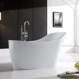 baignoire ilot ovale acrylique blanc 170x75 cm venise