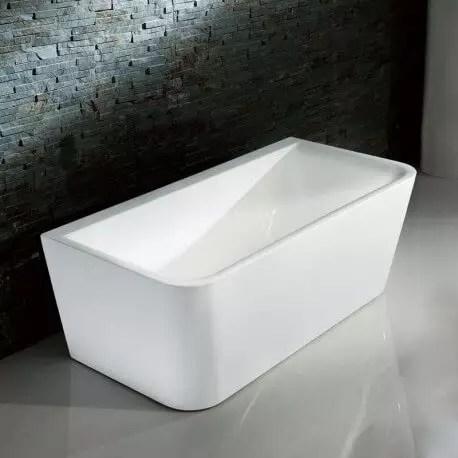 baignoire ilot rectangulaire acrylique blanc 160x80 cm bilbao