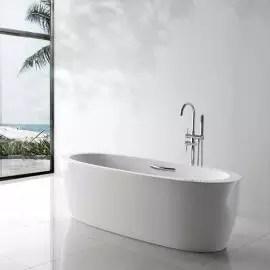 baignoire ilot ovale acrylique blanc 180x80 cm turin