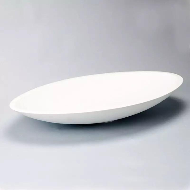 Vasque Poser Ovale Blanc Mat 59x35 Cm Composite Soon