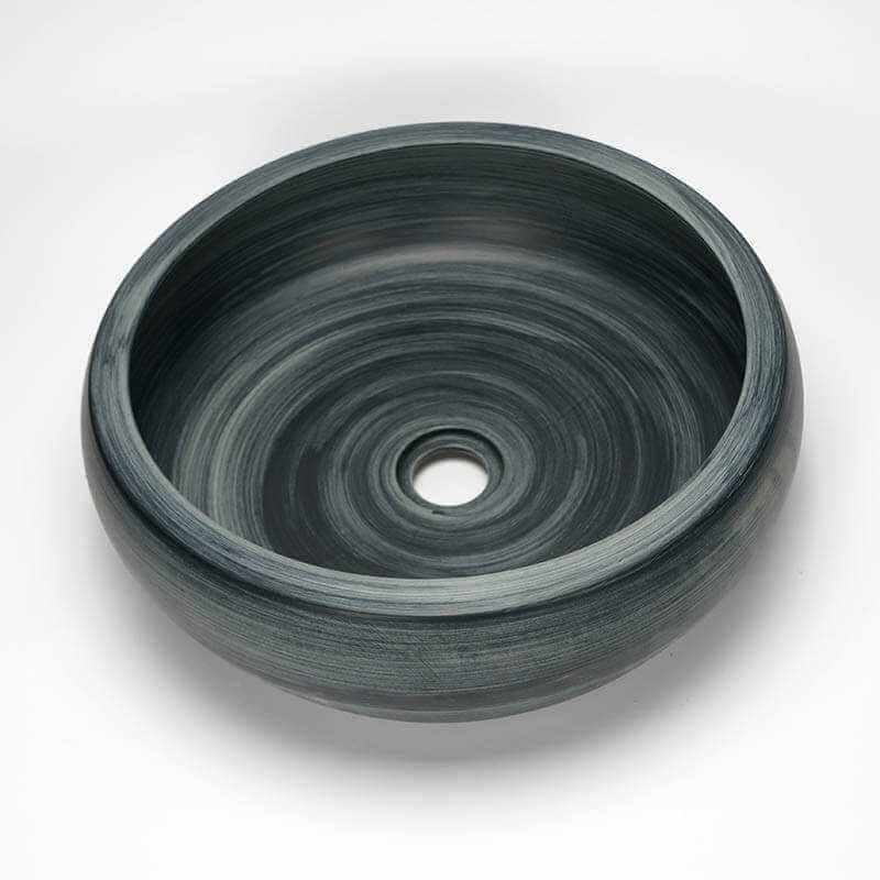 Vasque Grise Bol Cramique Glade Vasque Poser Ronde