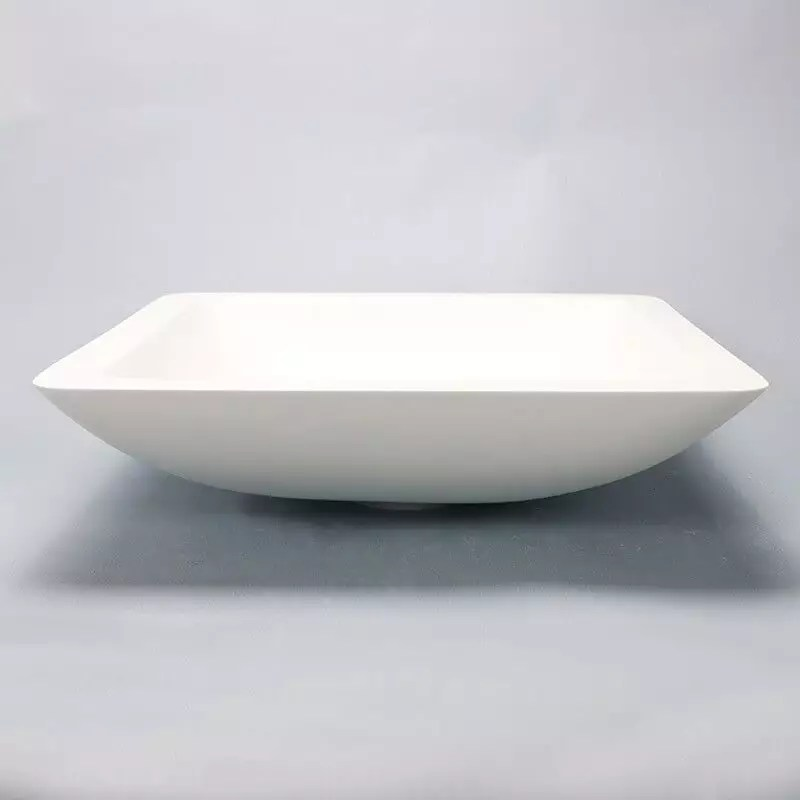 Vasque Carre Blanc Mat Xeno Vasque Poser Composite