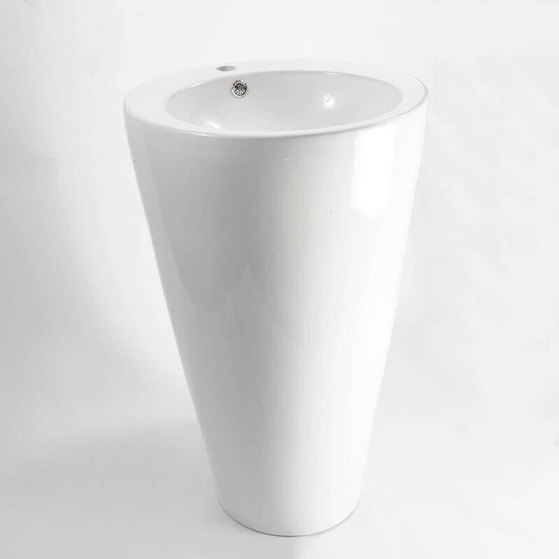 Lavabo Totem Rond Cramique Blanc Ego Lavabo Totem Design