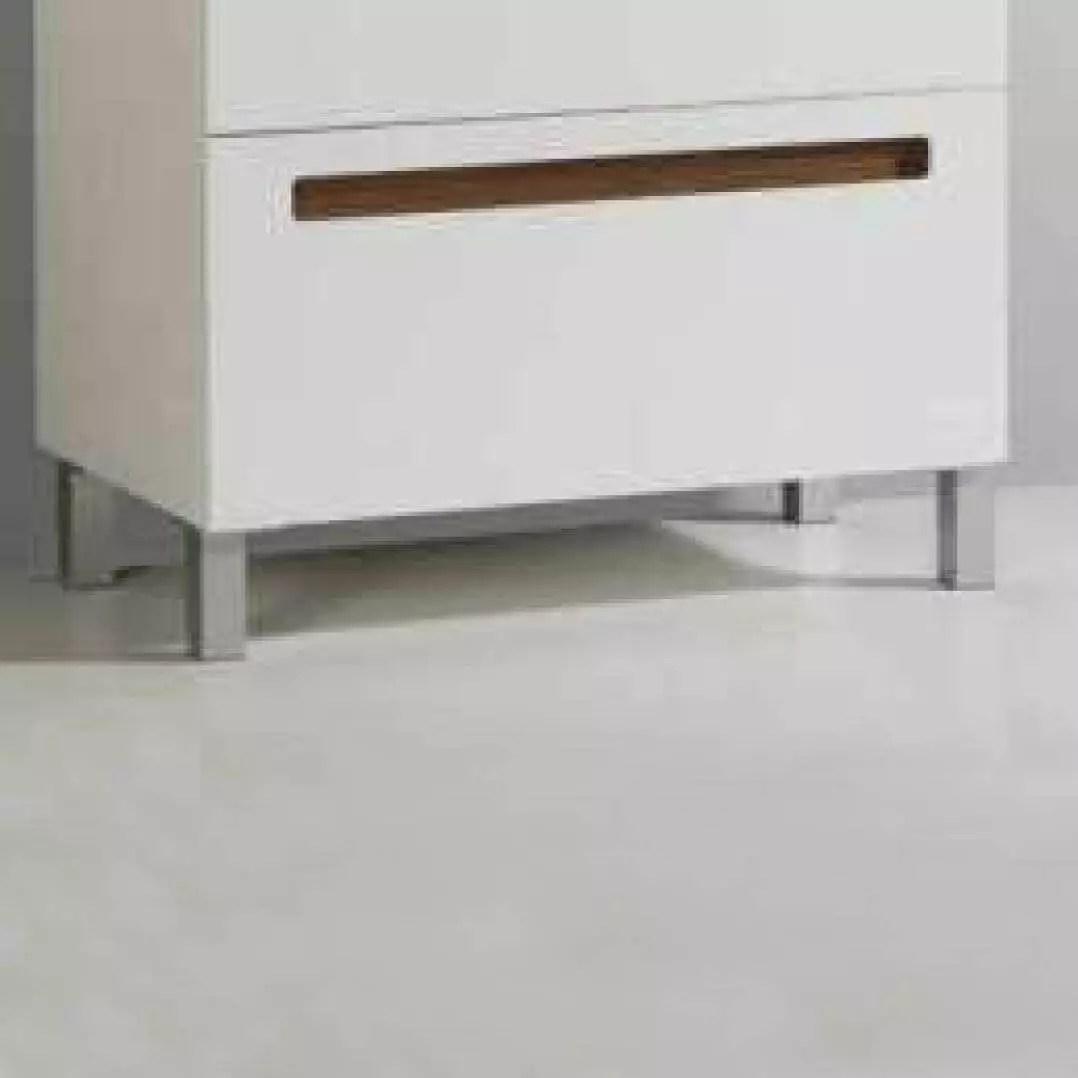 lot de 4 pieds aluminium pour meuble de salle de bain 23 cm