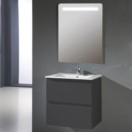 meuble bain 60 cm gris anthracite vasque et miroir rue du bain
