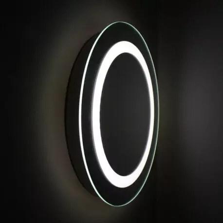 Miroir Rond Salle De Bain 50 Cm Eclairage Led Allumage Tactile Fashion