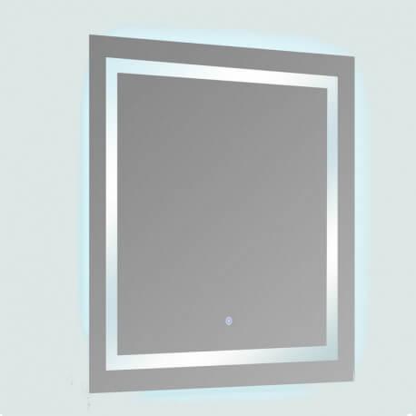 Miroir Salle Bain Rectangle Eclairage Led Allumage Sensitif Connec T80
