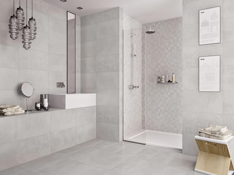 carrelage 30x60 gris clair mat citra effet beton