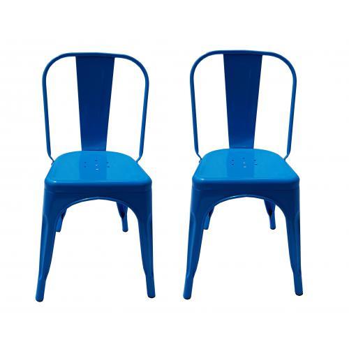 chaises en metal de style industriel chic pour cuisine bistro bistro tolix