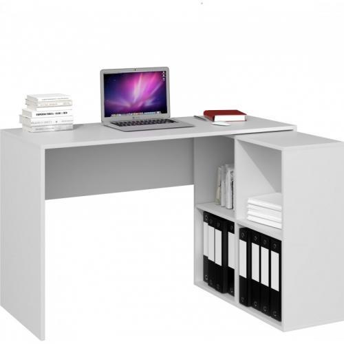 malox bureau informatique d angle 2en1 bibliotheque meuble de rangement 4