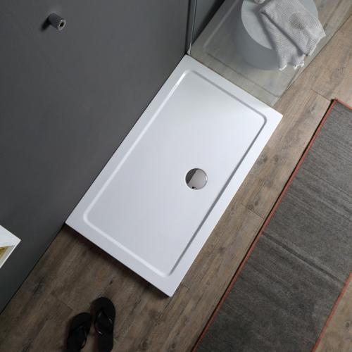 bac a douche en acrylique 120x70 rectangulaire