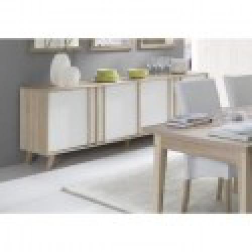 buffet enfilade bahut grand modele malmo meuble design type scandinave