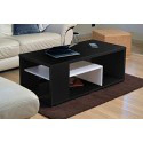 table basse melina b meuble moderne et tendance coloris noir et blanc ideal