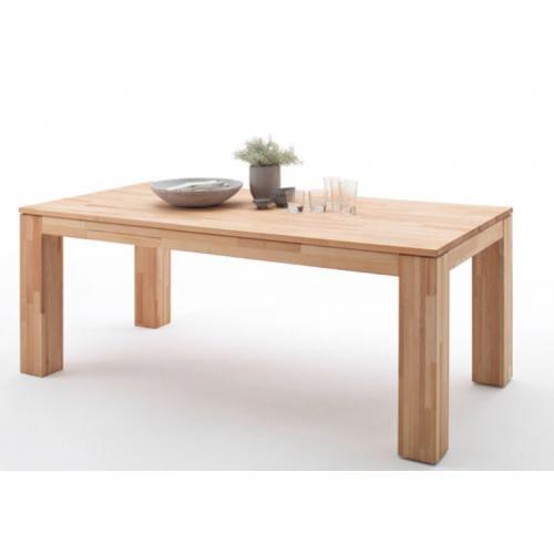 table de salle a manger extensible en hetre massif huile l 200 280 x h 77 x