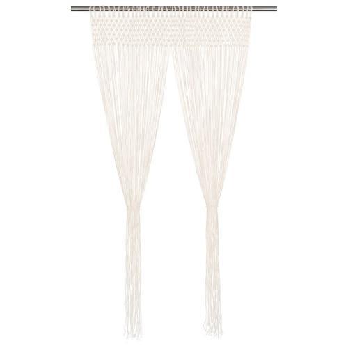 vidaxl rideau en macrame 140x240 cm coton