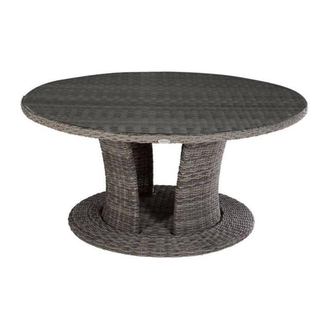 table ronde d exterieur moorea terre d ombre hesperide