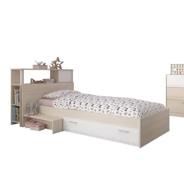 structure de lit charlemagne ensemble lit tete de lit avec rangement style