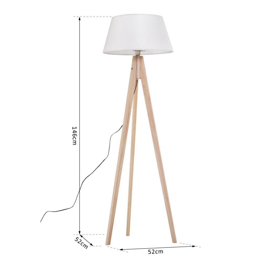 lampadaire trepied design scandinave