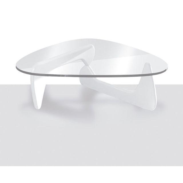 table basse design blanc laque et verre trempe geneve 2