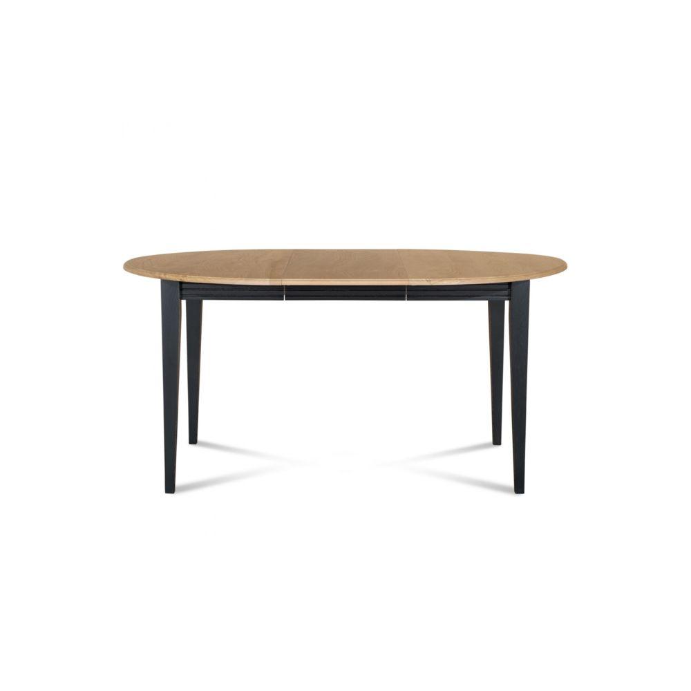 hellin table ronde extensible bois a rallonges 105 cm pieds fuseau victoria