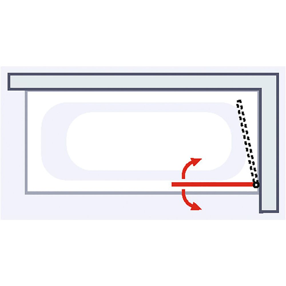 schulte schulte pare baignoire 1 volet 69 5 x 120 cm verre transparent profile alu argente capri