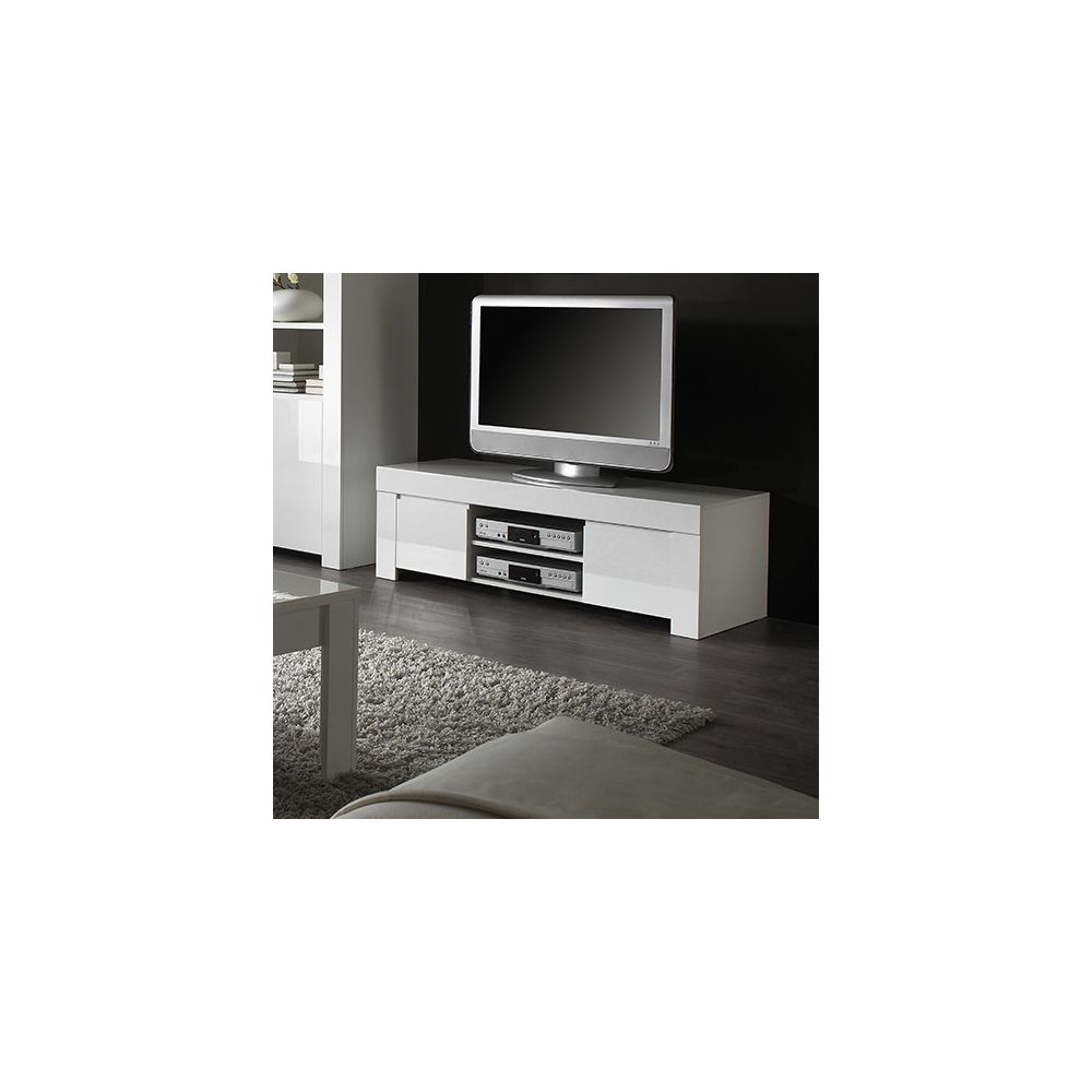 sofamobili meuble tv blanc laque design pietra