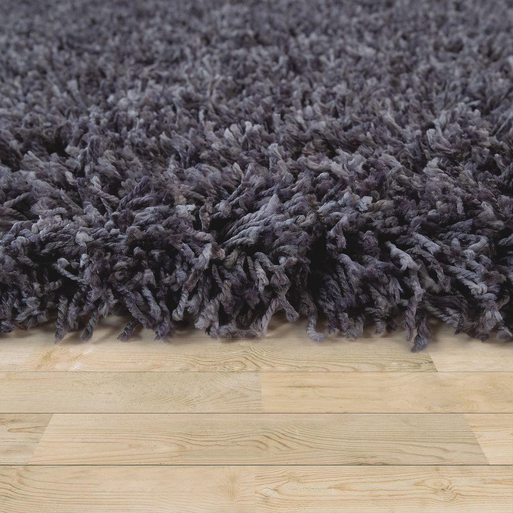 paco home tapis shaggy salon gris