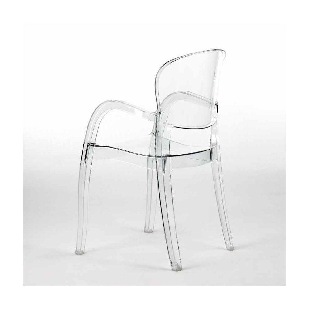 chaise polycarbonate transparent salle