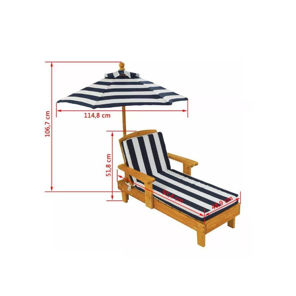 kidkraft chaise longue enfant avec parasol