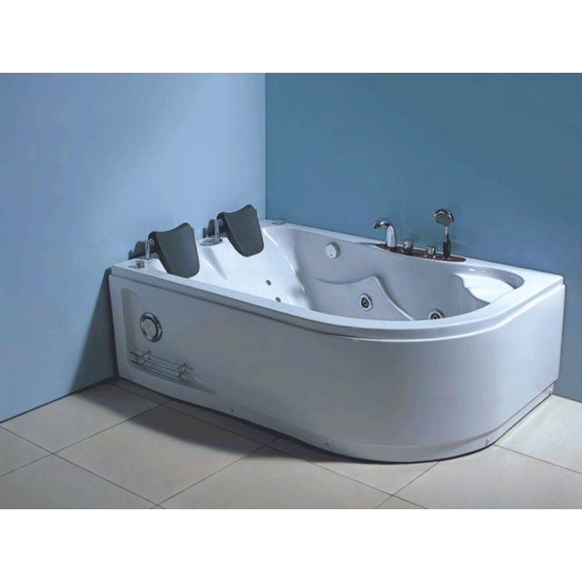 baignoire balneo massante havana 170 x 115 cm baignoire d angle bain tourbillon