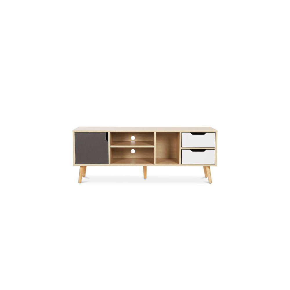privatefloor meuble de tv buffet style scandinave aren bois