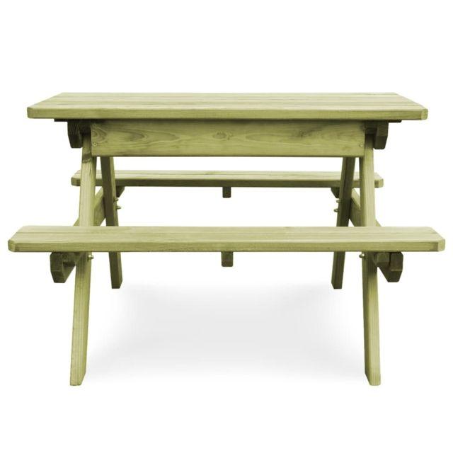 meubles de jardin selection tokyo icaverne table de pique nique avec bancs bois