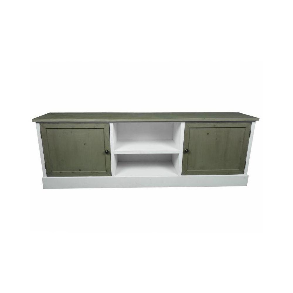 l heritier du temps meuble tv tele console de salon grand meuble bas de rangement etageres placards en bois patine blanc 32 5x53x155cm