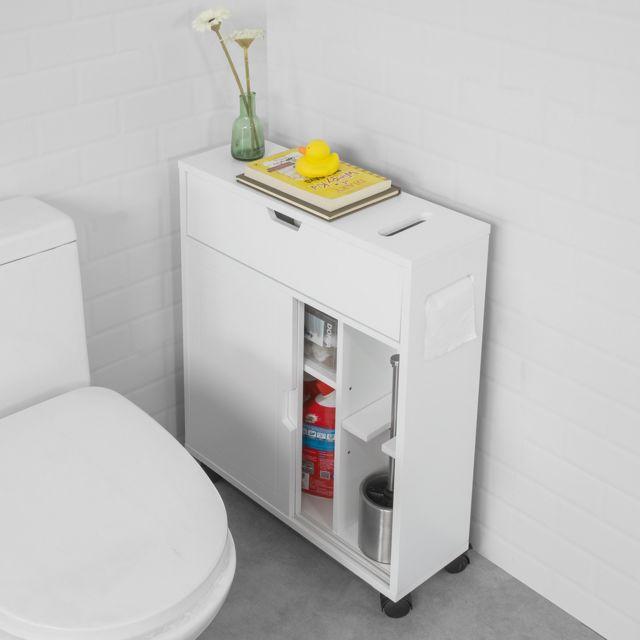 sobuy bzr31 w meuble de rangement salle de bain armoire de cote rangement