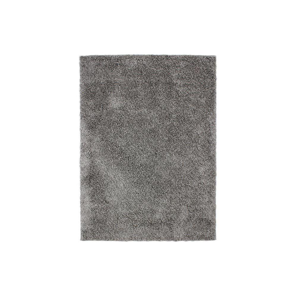 tapis poil long gris
