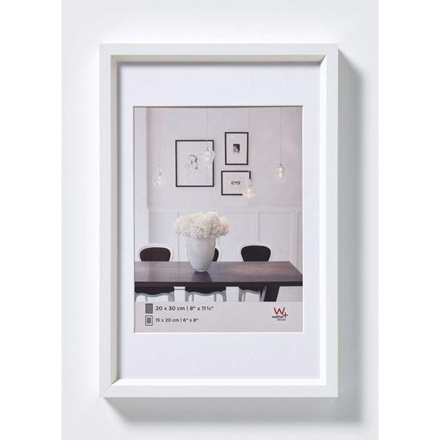 cadre photo imitation acier steel style 30 x 40 cm blanc