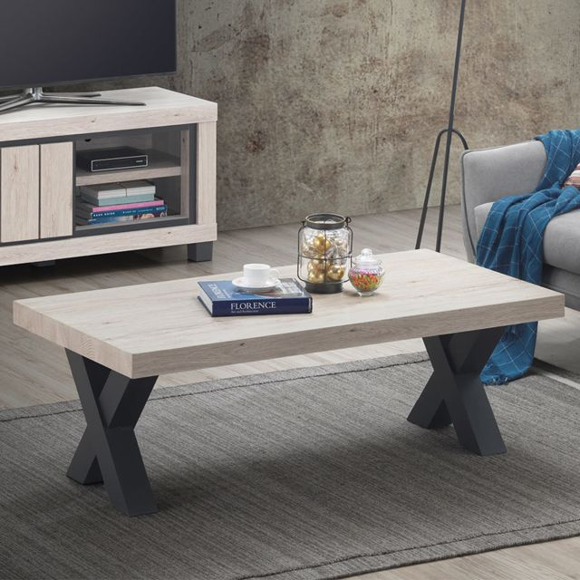 table basse 130 cm couleur bois naturel eurydice