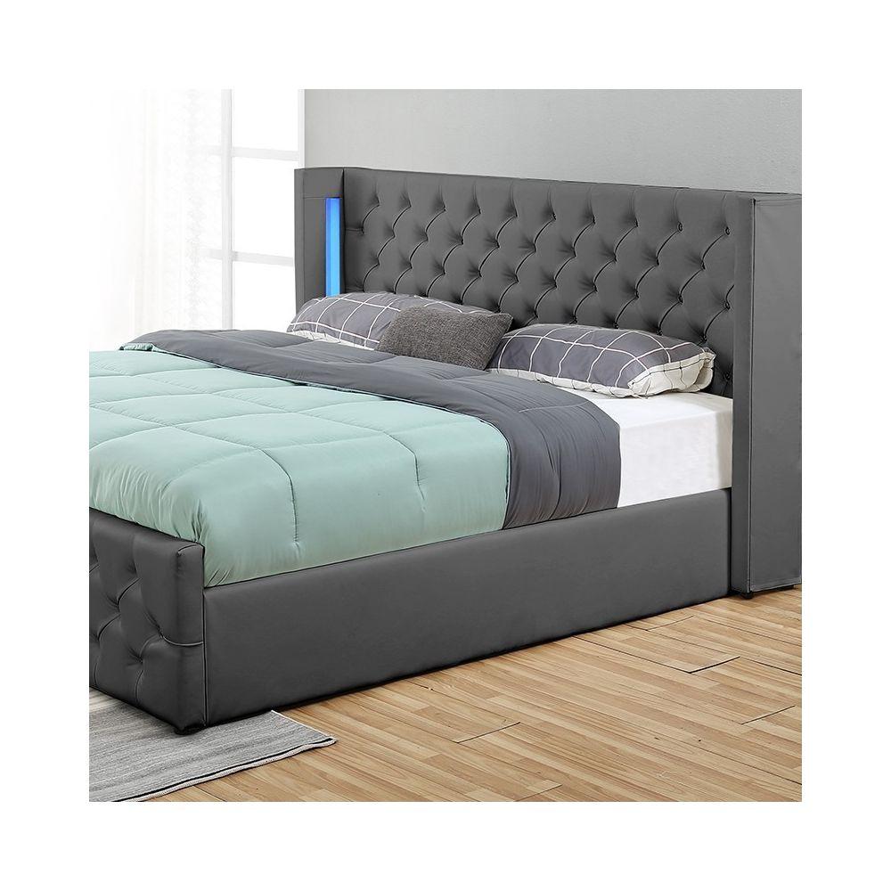 lit coffre design avec led osmos
