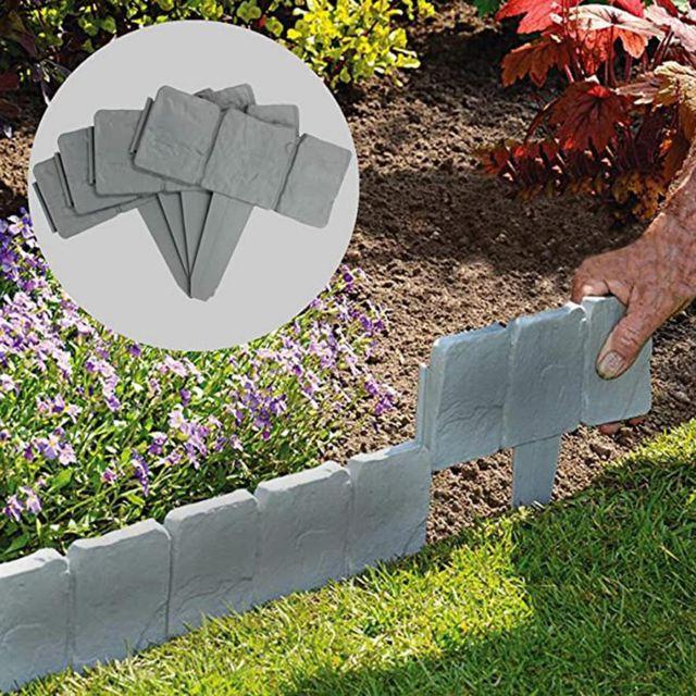 20pcs en plastique de bordure de pelouse bordant le mur de cloture de bord