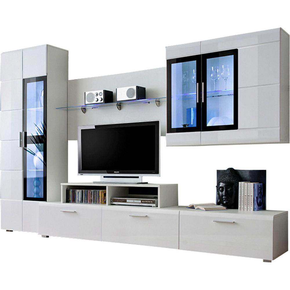 ensemble mural 270 cm avec meuble tv
