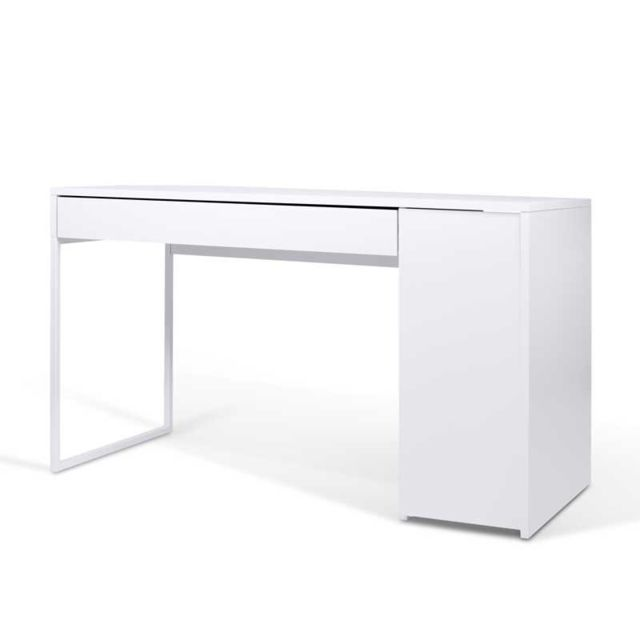 bureau 1 porte 1 tiroir blanc trelio