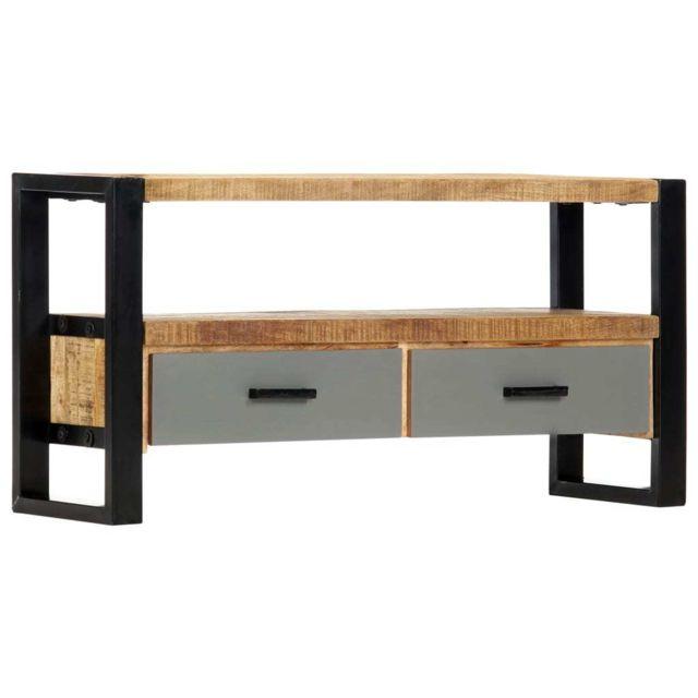 chic meubles reference yaounde meuble tv 100 x 30 x 50 cm bois massif de