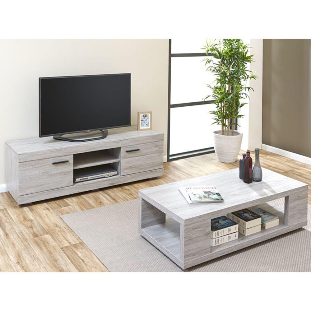 altobuy tom ensemble table basse meuble tv