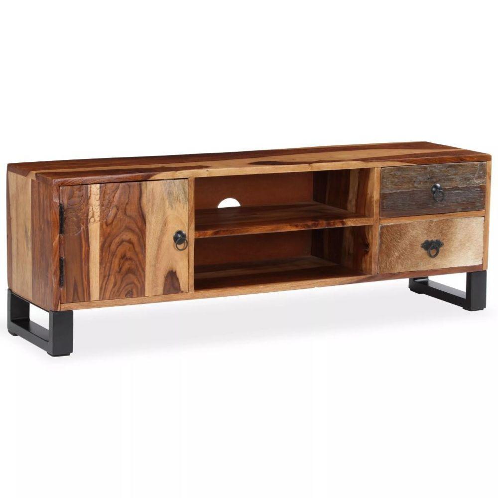 marque generique contemporain meubles reference conakry meuble tv bois massif de sesham 120 x 30 x 40 cm