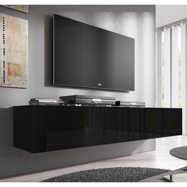 meuble tv modele forli xl 160 cm noir