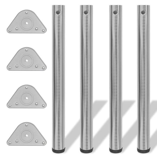 vidaxl 4x pieds de table a hauteur reglable 710 mm plans de travail bureaux